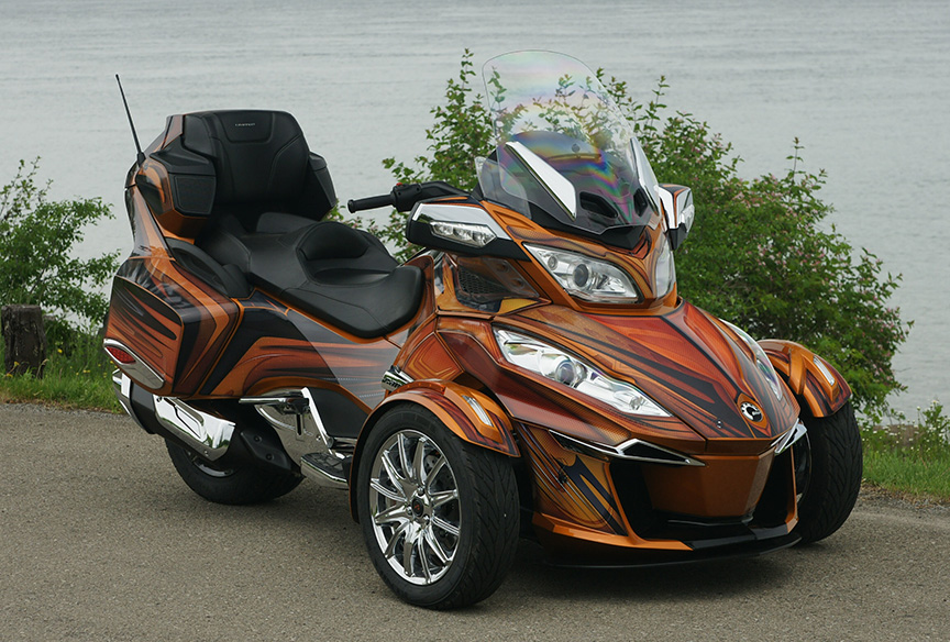 Custom Can Am Spyder Rt Graphics Kits
