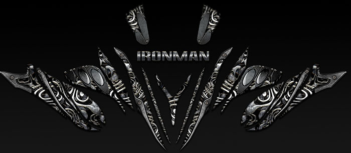 IRONMAN snowmobile graphics