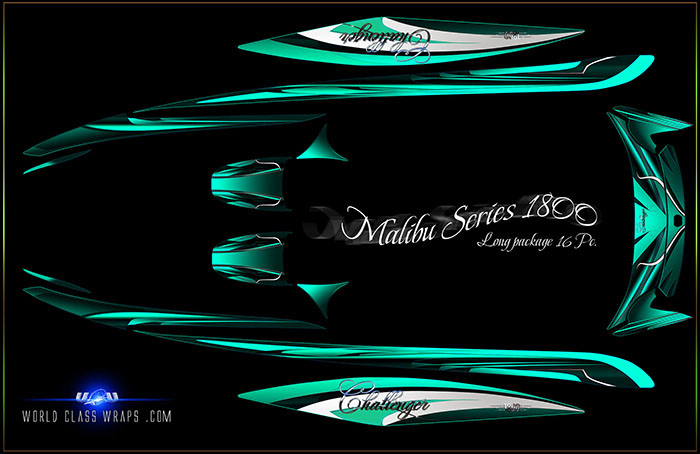 seadoo boat graphics green_white 22 boat graphics designs ideas - Boat Graphics Designs Ideas