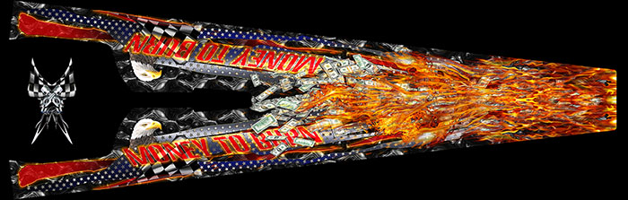 MONEY TO BURN ful scale dragster graphics