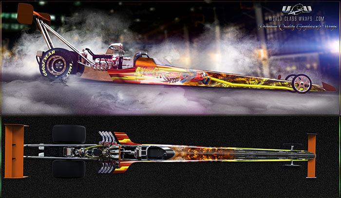 NEED FOR SPEED DRAGSTER GRAPHICS WRAP