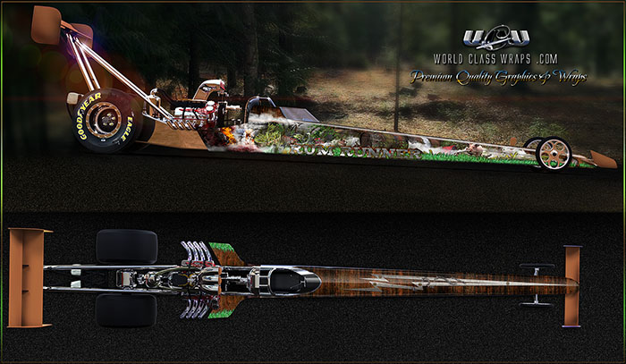 BOOTLEGGER RUM RUNNER CUSTOM DRAGSTER GRAPHICS WRAP IMAGE