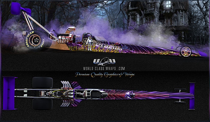 Dragula custom dragster graphics