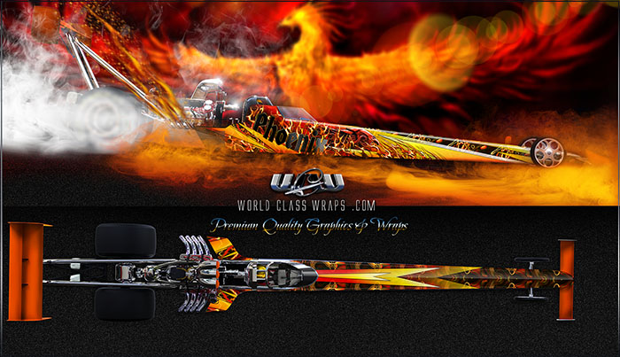 Phoenix dragster graphics wrap
