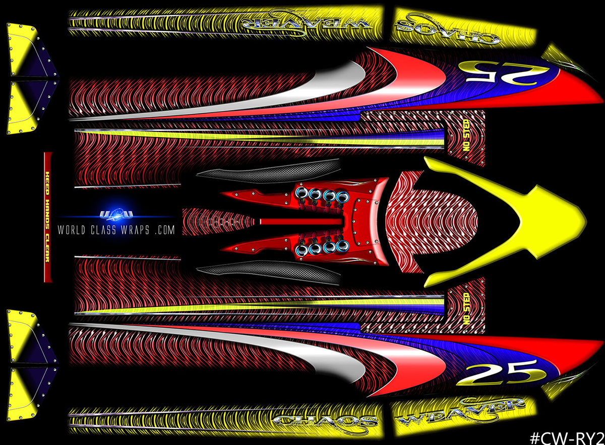 Custom Graphics For AquaCraft UL Superior Hydroplane RC Boats - Custom vinyl decals for rc boats