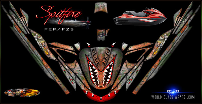 Spitfire pwc graphics for Yamaha FZR and FZS