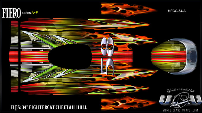 Fightercat Cheetah RC boat graphics