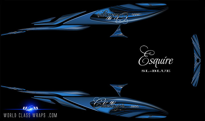 ESQUIRE-SL-SEADOO-CHALLENGER-BOAT-GRAPHICS-BLUE