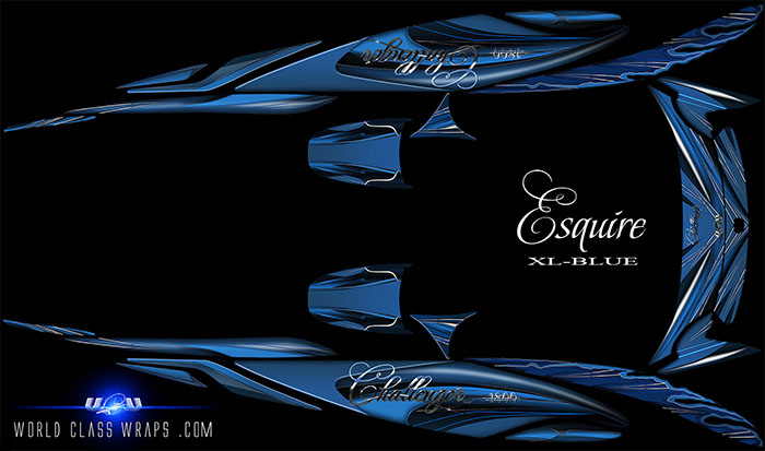 ESQUIRE-XL-SEADOO-CHALLENGER-BOAT-GRAPHICS-BLUE