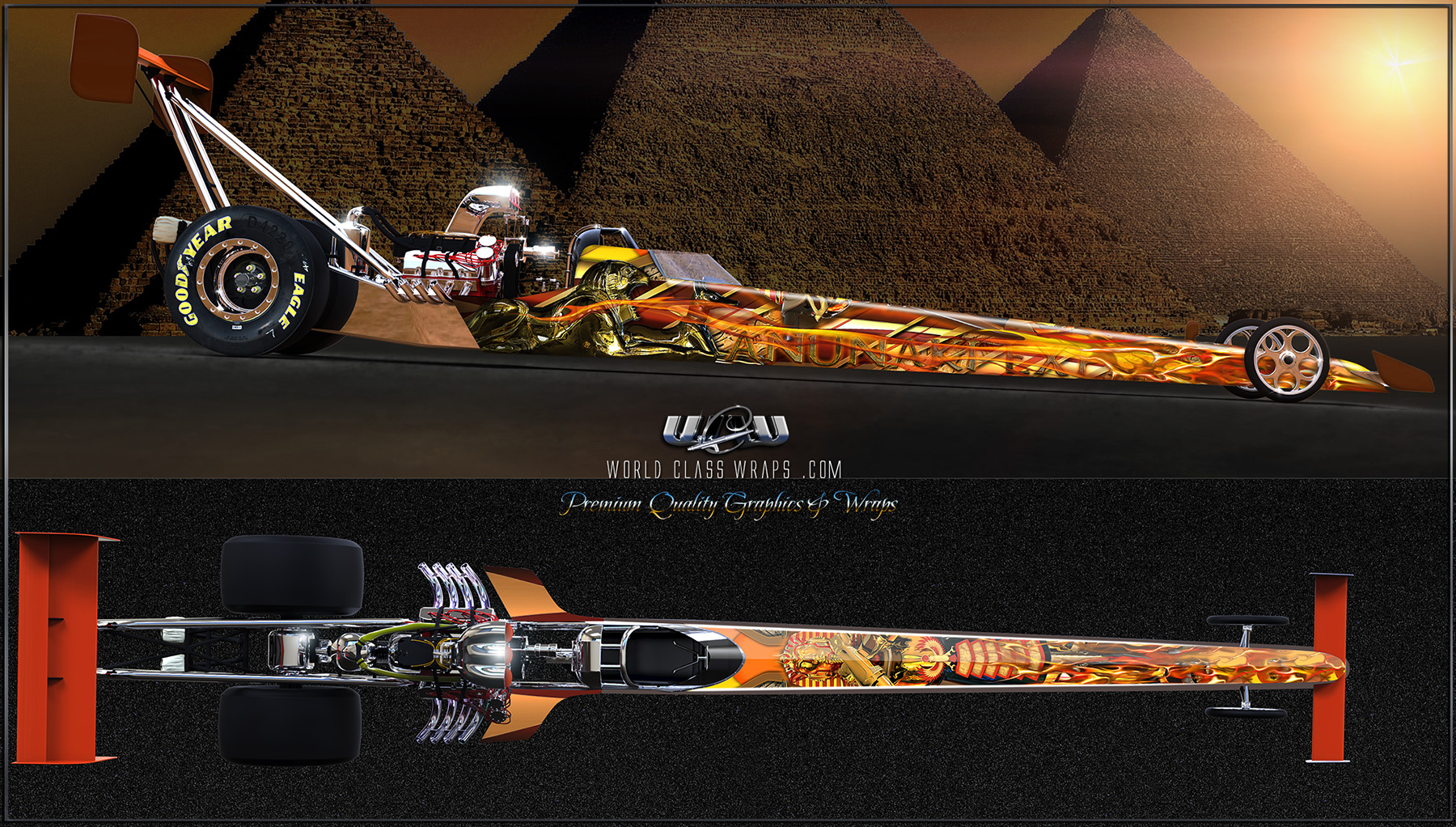 ANUNAKI EXPRESS DRAGSTER GRAPHICS