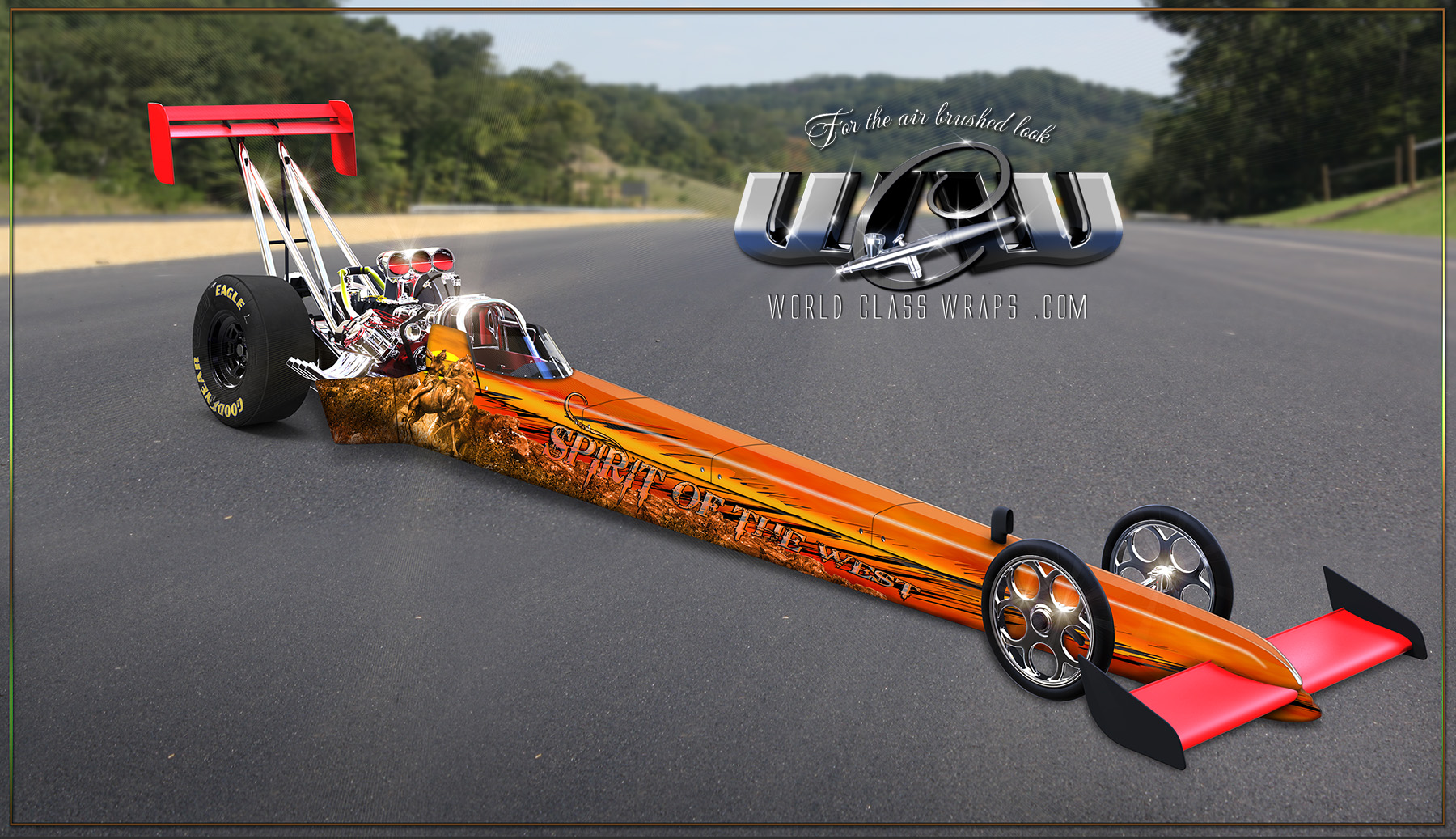 CUSTOM DRAGSTER WRAP IMAGE