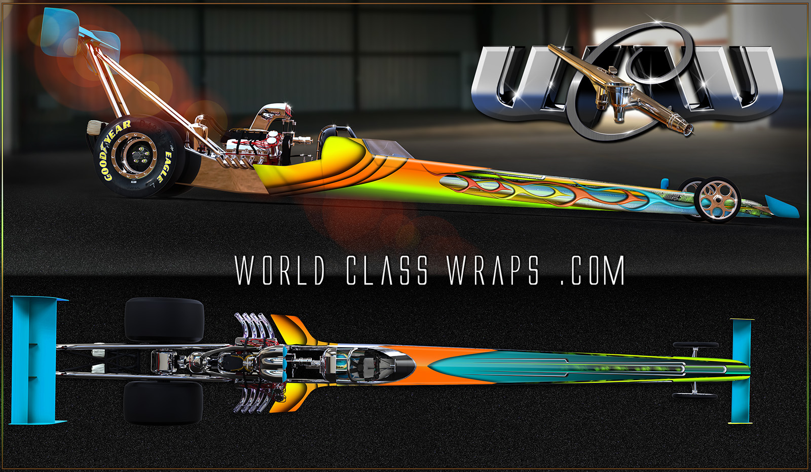 CIRCUIT CIRCUS DRAGSTER GRAPHICS WRAP IMAGE