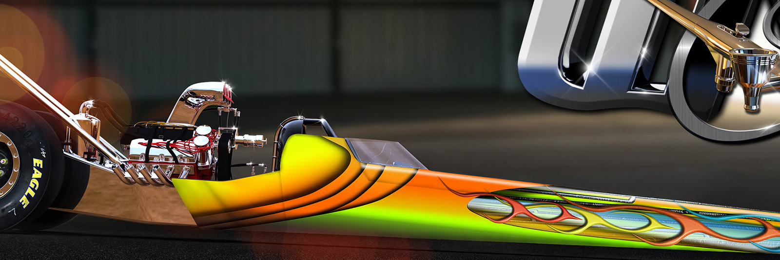 CIRCUIT CIRCUS dragster graphics wrap design 2