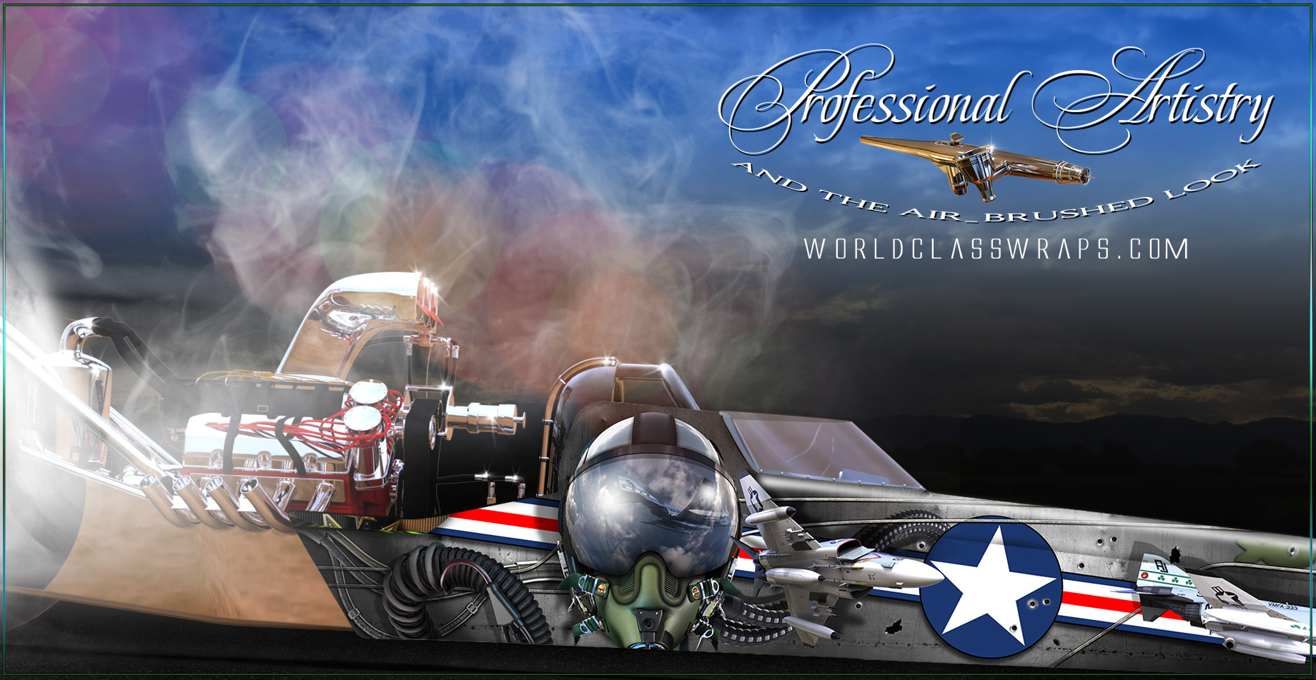 jet pilot dragster wrap close-up image