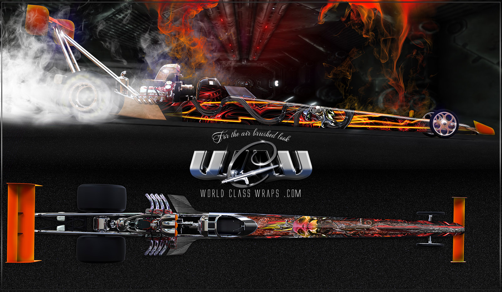 VOODOO DRAGSTER GRAPHICS WRAP IMAGE